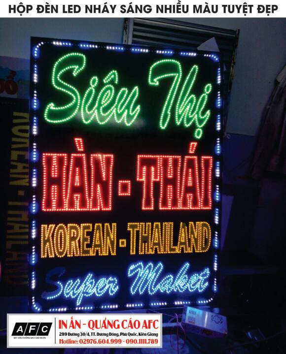 Hộp đèn lé siêu thị Hàn - Thái tại Phú Quốc