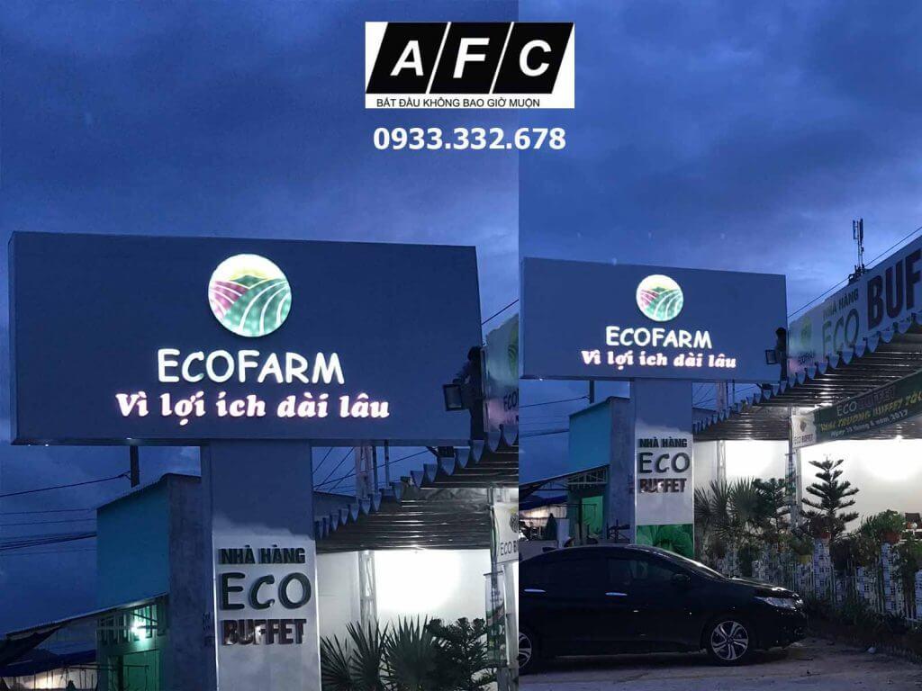 Biển quảng cáo Led nhà hàng ECOFARM