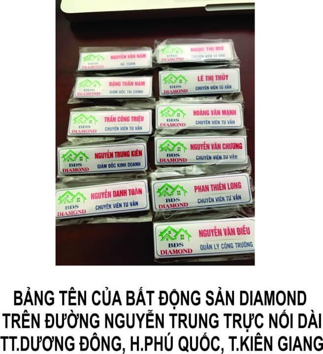 Thiết kế in ấn bảng tên công ty bất động sản Diamond