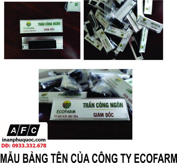 Thiết kế in ấn bảng tên công ty Ecofarm