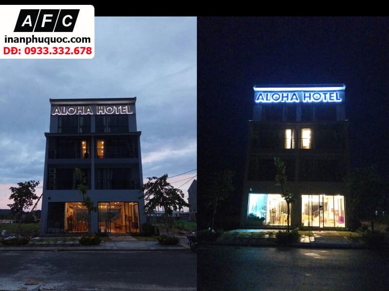 Dự án biển quảng cáo chữ nổi khách sạn Aloha phú quốc