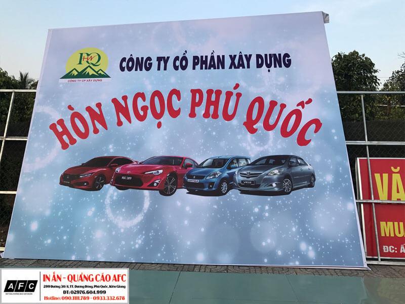 Thi công Biển quảng cáo bạt Hiflex tại Phú Quốc