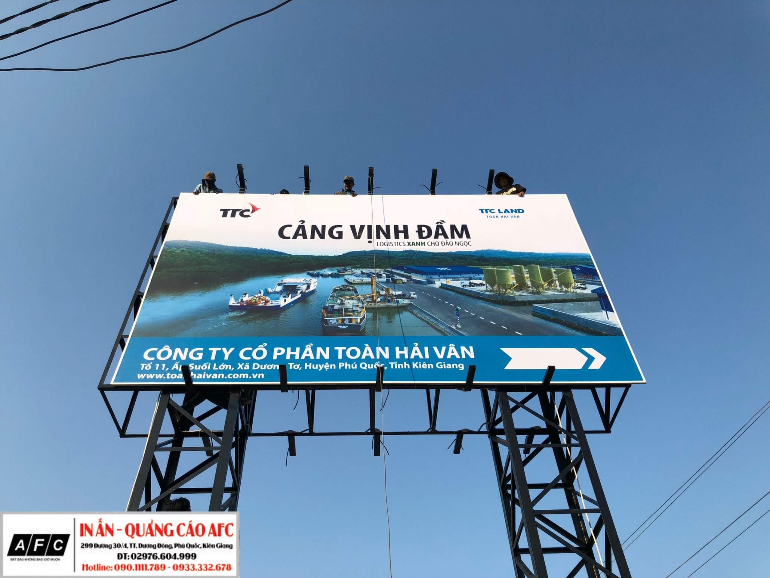 Thi công Pano quảng cáo ngời trời - Pano tấm lớn ngoài trời tại Phú Quốc