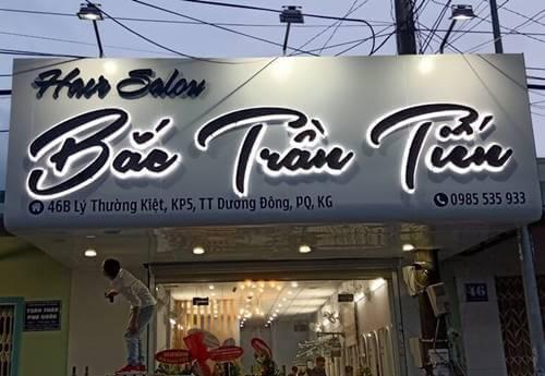 Thi công Bảng hiệu Mặt dựng Alu đẹp tại Phú Quốc