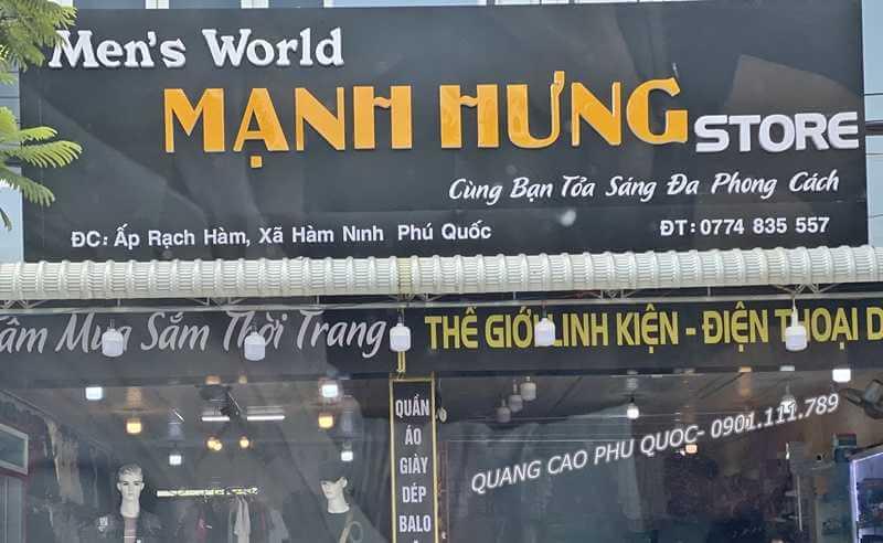 Hình ảnh làm bảng hiệu quảng cáo đẹp chuyên nghiệp tại Mạnh Hưng Phú Quốc