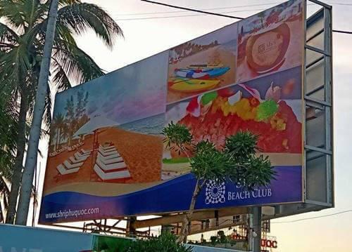 Hình ảnh thi công bảng hiệu quảng cáo ngoài trời tại Phú Quốc