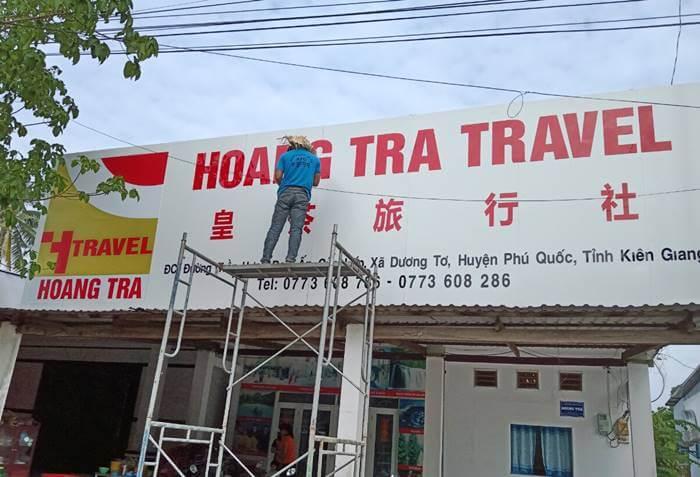 Thi công bảng hiệu tại Phú Quốc