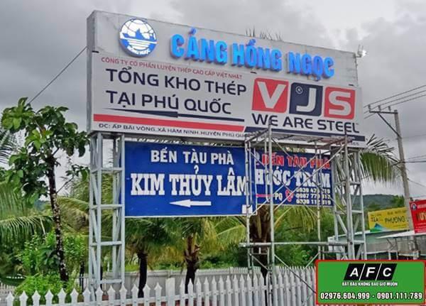 Thi công biển quảng cáo tại Phú Quốc